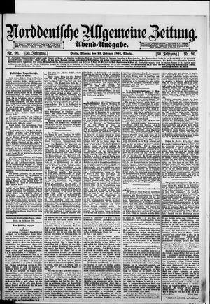 Norddeutsche allgemeine Zeitung vom 23.02.1891