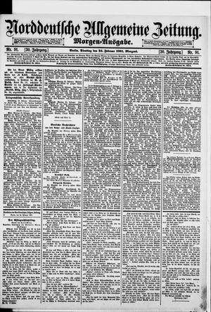 Norddeutsche allgemeine Zeitung vom 24.02.1891