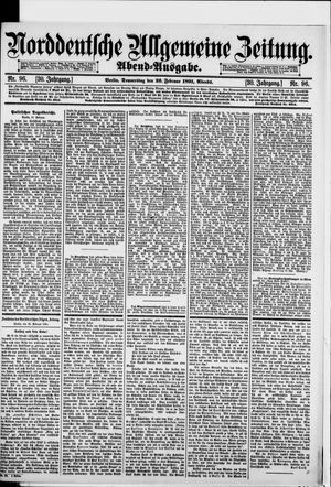 Norddeutsche allgemeine Zeitung vom 26.02.1891