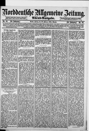 Norddeutsche allgemeine Zeitung vom 27.02.1891