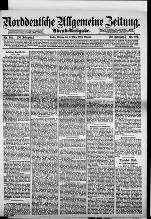 Norddeutsche allgemeine Zeitung vom 02.03.1891