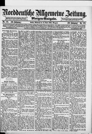 Norddeutsche allgemeine Zeitung vom 15.04.1891