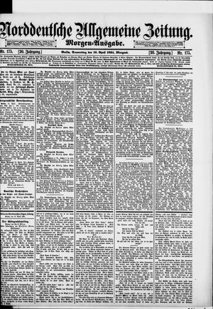 Norddeutsche allgemeine Zeitung on Apr 16, 1891