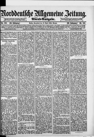 Norddeutsche allgemeine Zeitung vom 18.04.1891