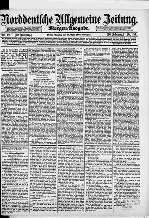 Norddeutsche allgemeine Zeitung vom 19.04.1891
