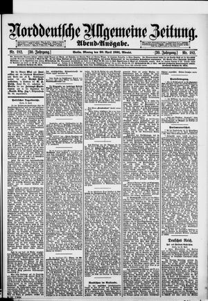 Norddeutsche allgemeine Zeitung vom 20.04.1891