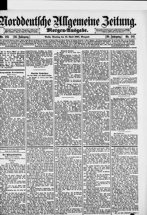 Norddeutsche allgemeine Zeitung vom 21.04.1891