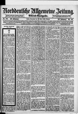 Norddeutsche allgemeine Zeitung vom 25.04.1891