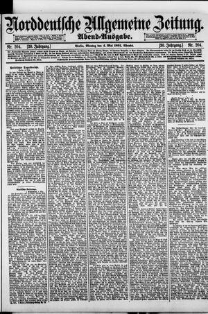 Norddeutsche allgemeine Zeitung vom 04.05.1891