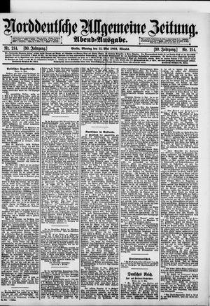 Norddeutsche allgemeine Zeitung vom 11.05.1891