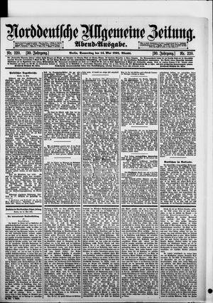 Norddeutsche allgemeine Zeitung vom 14.05.1891