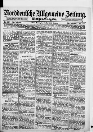 Norddeutsche allgemeine Zeitung vom 26.05.1891