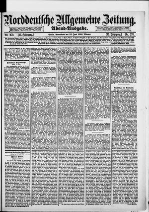 Norddeutsche allgemeine Zeitung on Jun 13, 1891