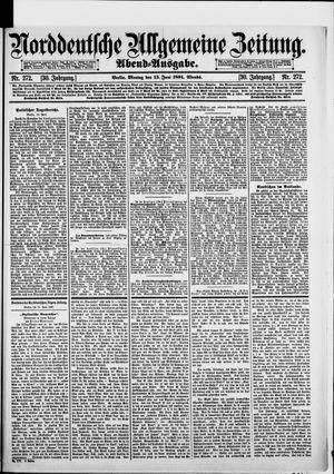Norddeutsche allgemeine Zeitung vom 15.06.1891