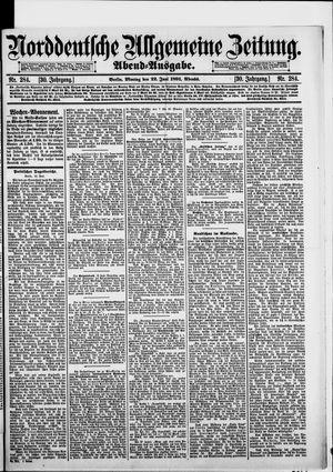 Norddeutsche allgemeine Zeitung vom 22.06.1891