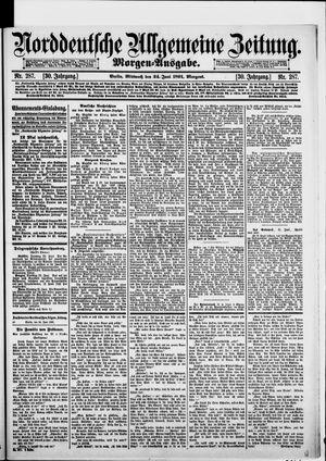 Norddeutsche allgemeine Zeitung vom 24.06.1891