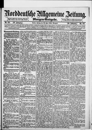 Norddeutsche allgemeine Zeitung vom 26.06.1891