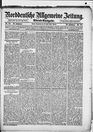 Norddeutsche allgemeine Zeitung vom 11.07.1891