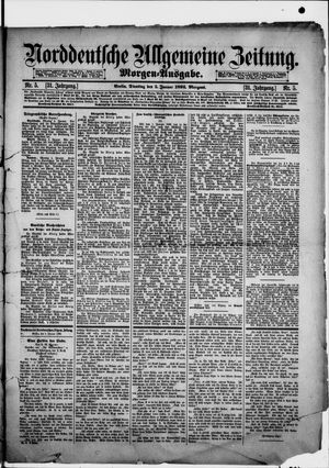 Norddeutsche allgemeine Zeitung vom 05.01.1892