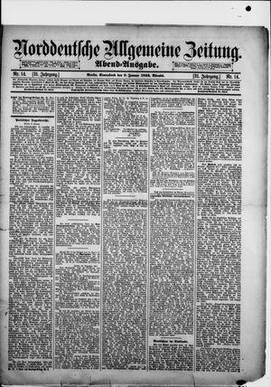 Norddeutsche allgemeine Zeitung vom 09.01.1892