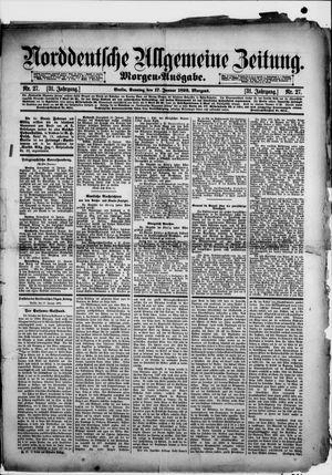 Norddeutsche allgemeine Zeitung vom 17.01.1892