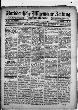 Norddeutsche allgemeine Zeitung vom 24.01.1892