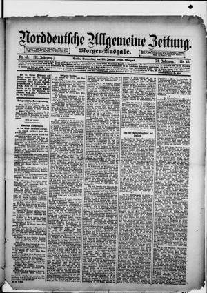Norddeutsche allgemeine Zeitung vom 28.01.1892