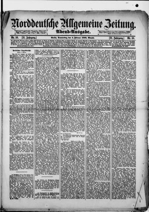 Norddeutsche allgemeine Zeitung vom 04.02.1892