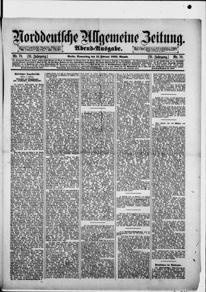 Norddeutsche allgemeine Zeitung vom 11.02.1892