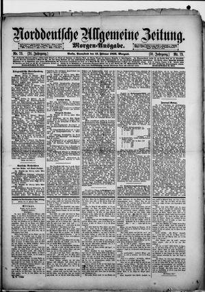 Norddeutsche allgemeine Zeitung vom 13.02.1892