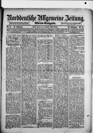Norddeutsche allgemeine Zeitung vom 19.02.1892