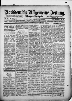 Norddeutsche allgemeine Zeitung vom 21.02.1892