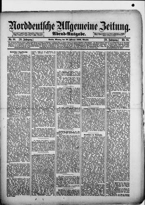 Norddeutsche allgemeine Zeitung vom 22.02.1892