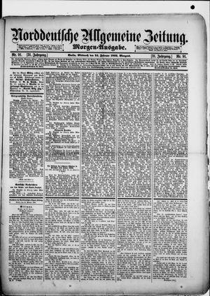 Norddeutsche allgemeine Zeitung vom 24.02.1892