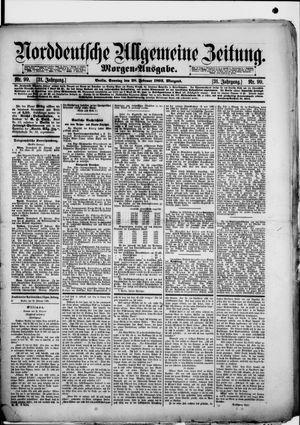Norddeutsche allgemeine Zeitung vom 28.02.1892