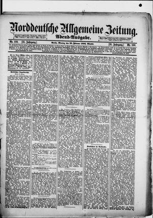 Norddeutsche allgemeine Zeitung vom 29.02.1892
