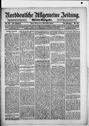 Norddeutsche allgemeine Zeitung on Apr 4, 1892