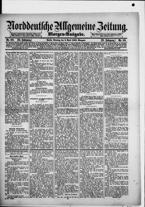Norddeutsche allgemeine Zeitung on Apr 5, 1892