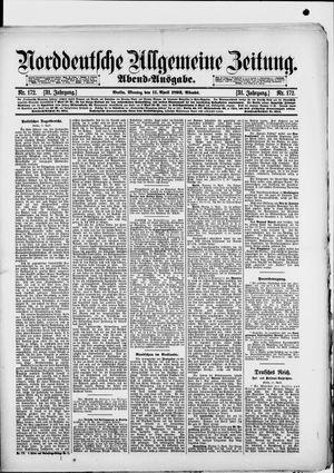 Norddeutsche allgemeine Zeitung vom 11.04.1892