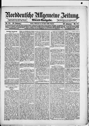 Norddeutsche allgemeine Zeitung vom 13.04.1892