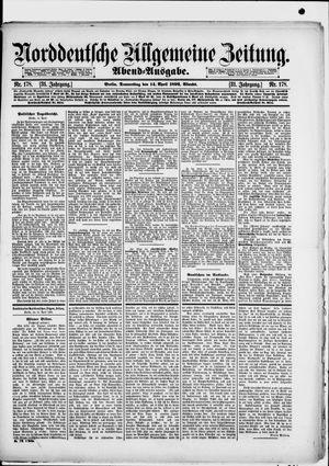 Norddeutsche allgemeine Zeitung vom 14.04.1892