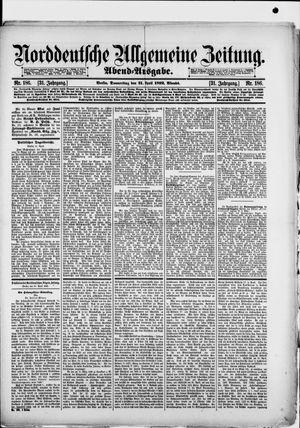 Norddeutsche allgemeine Zeitung vom 21.04.1892