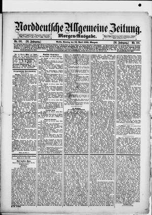 Norddeutsche allgemeine Zeitung vom 24.04.1892