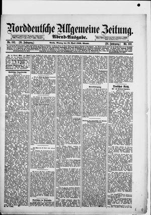 Norddeutsche allgemeine Zeitung vom 25.04.1892