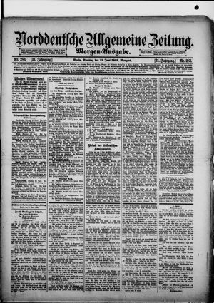 Norddeutsche allgemeine Zeitung vom 21.06.1892