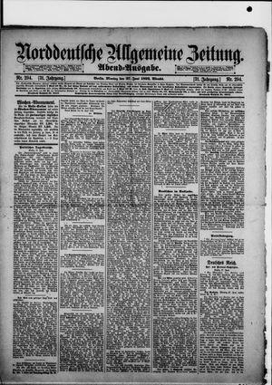 Norddeutsche allgemeine Zeitung vom 27.06.1892