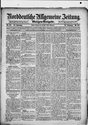 Norddeutsche allgemeine Zeitung vom 15.07.1892