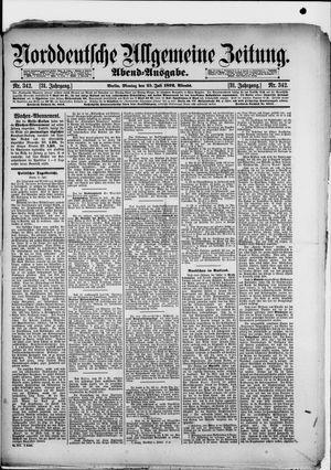 Norddeutsche allgemeine Zeitung vom 25.07.1892