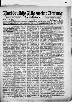 Norddeutsche allgemeine Zeitung vom 26.07.1892