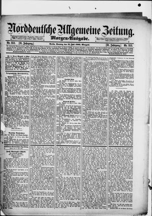 Norddeutsche allgemeine Zeitung on Jul 31, 1892